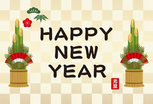 新年的卡片模板