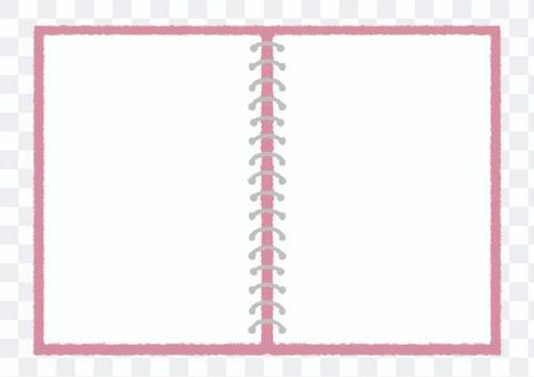 戒指筆記本傳播手繪圖_粉紅色