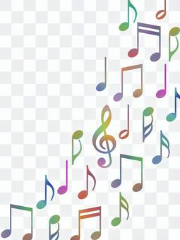 Musical note wallpaper image colorful music background material illustration