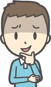 男の子ブルー長袖-154-バスト
