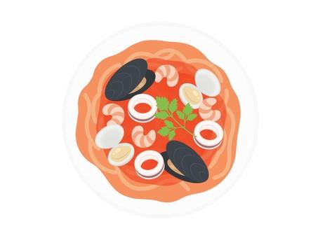 Pescatore_Spaghetti / Pasta_directly 上面