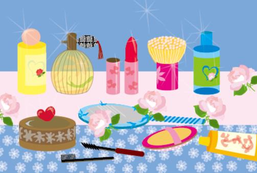 Girls cosmetics lipstick cosmetic world