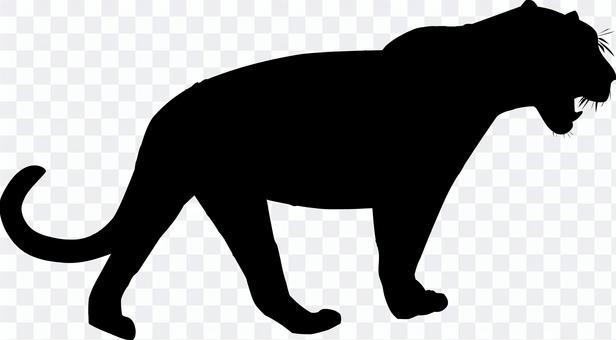 豹 シルエット