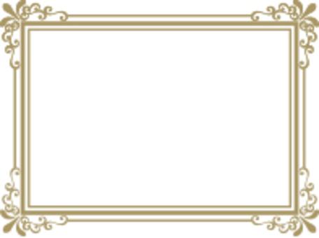 裝飾框架黃金矩形