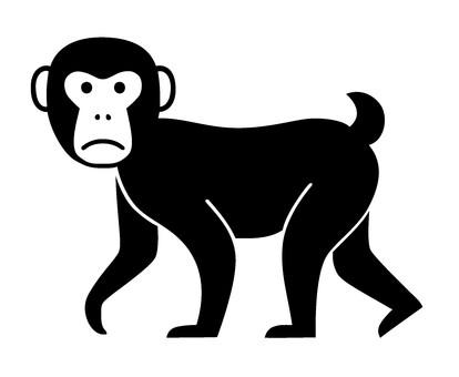 Silhouette monkey