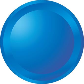 按鈕三維藍色