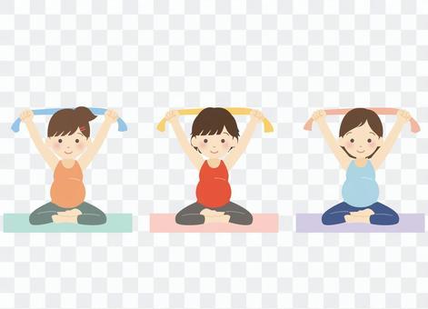 孕婦做孕婦瑜伽