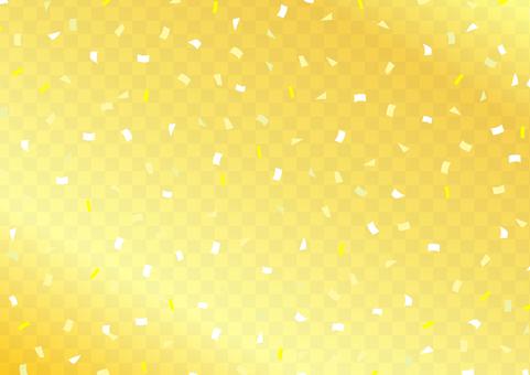 金色方格背景五彩紙屑