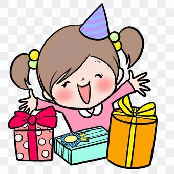 女孩生日快樂禮物