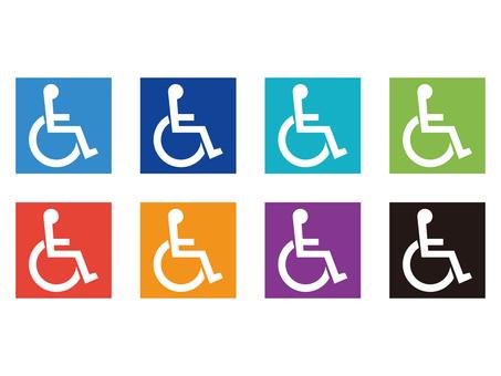휠체어 마크 아이콘