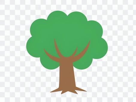 樹(深綠色)