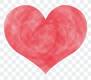 필기 수채화 핑크 하트 아이콘 기호 그림