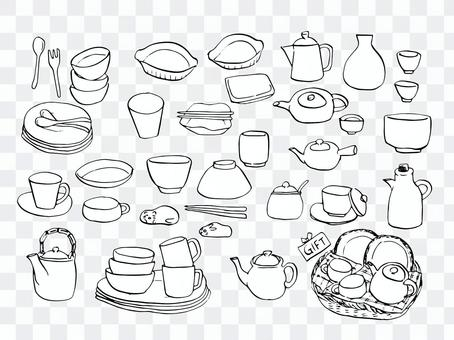 餐具設置繪圖
