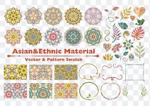 亞洲和民族材料