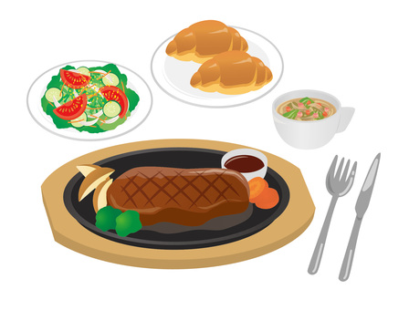 Set_Steak 01 Bread
