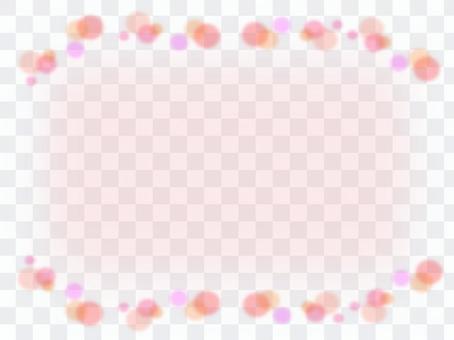 波爾卡圓點圖案粉紅色的框架材料