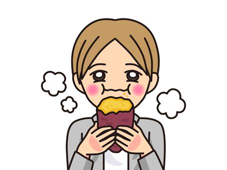 烤紅薯_吃