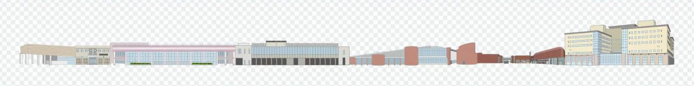 Building group horizontally long