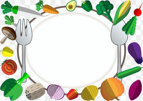 框架01與20種蔬菜