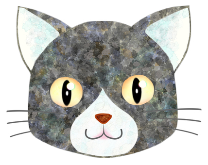 貓臉(灰/白)7
