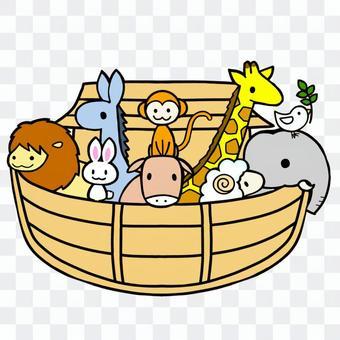 諾亞方舟的插圖