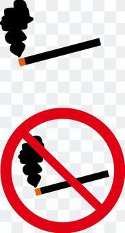 タバコ 喫煙 煙 禁止 サイン