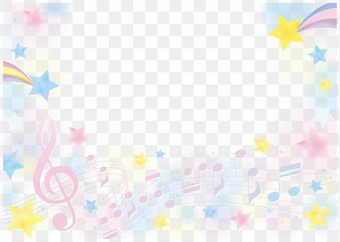 Graceful music frame of stars 2
