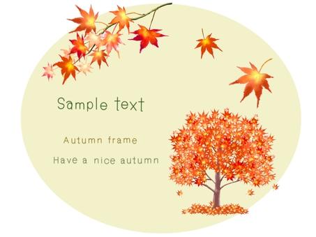 與秋葉裝飾的框架