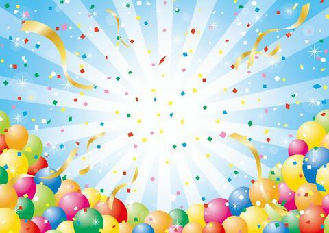 氣球、集中線和五彩紙屑_01