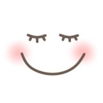 Transparent smile smile face sleeping eyelashes