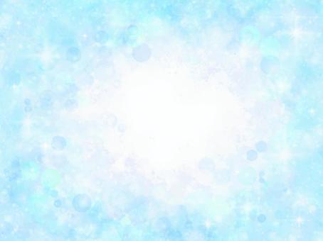 輝くシャボン玉背景フレーム(ブルー)