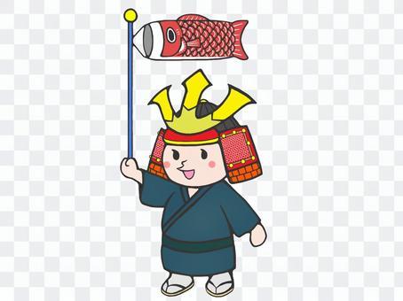 頭戴頭盔的孩子