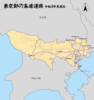 東京都高速公路路線圖
