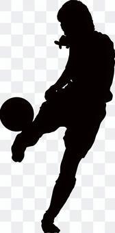 Football silhouette kick