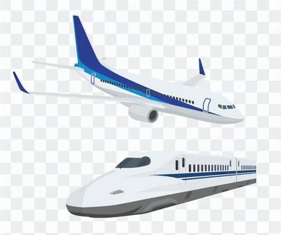 新幹線和飛機組1