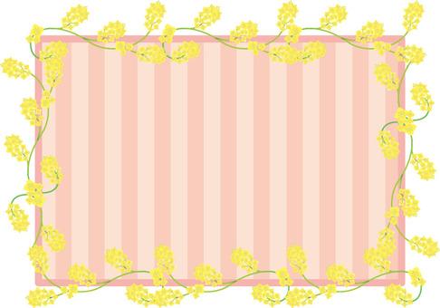 Rapeseed flower stripe frame