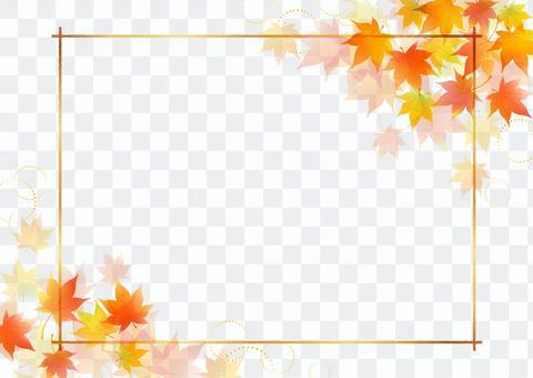 秋天楓葉框架9