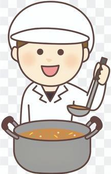 女性烹飪人員_白大衣