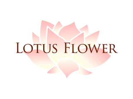 Pale lotus flower and Lotus Flower letters