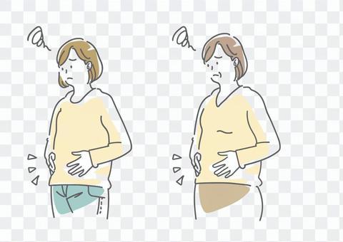 患有代謝綜合症的女人的插圖