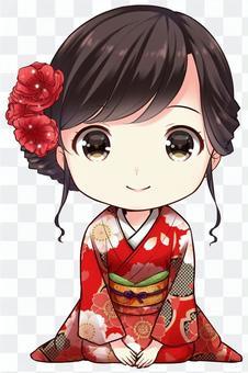 Kimono woman (bowing)