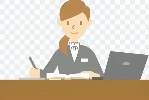 商人011(女性書桌工作)