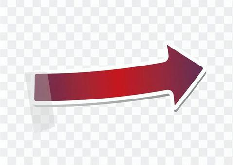 右箭頭鍵(紅色)