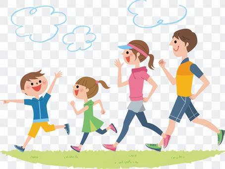 慢跑與家人(背景)