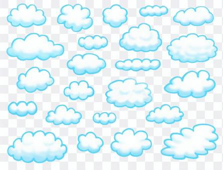 Cloud heading set of various shapes