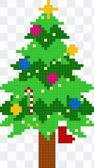 Christmas tree pixel art design