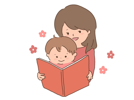 Storytelling of picture books Mother and child Parent and child