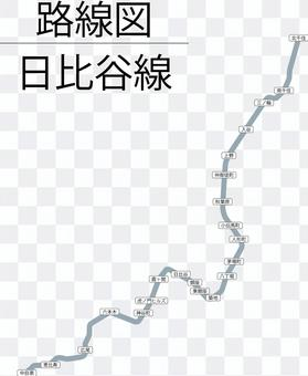 日比谷線圖-兼容虎之門之丘