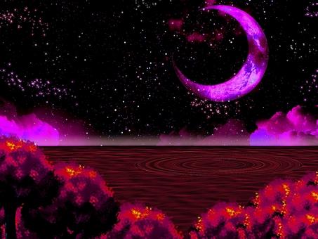 Fantastic moonlit night