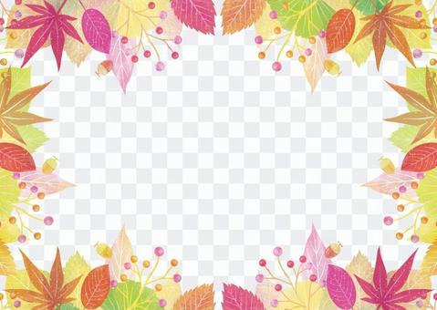 가을 배경 프레임이 8 수채화 풍